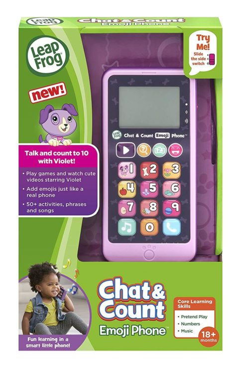 LEAP FROG Pink Chat & Count Emoji Phone - Just Click