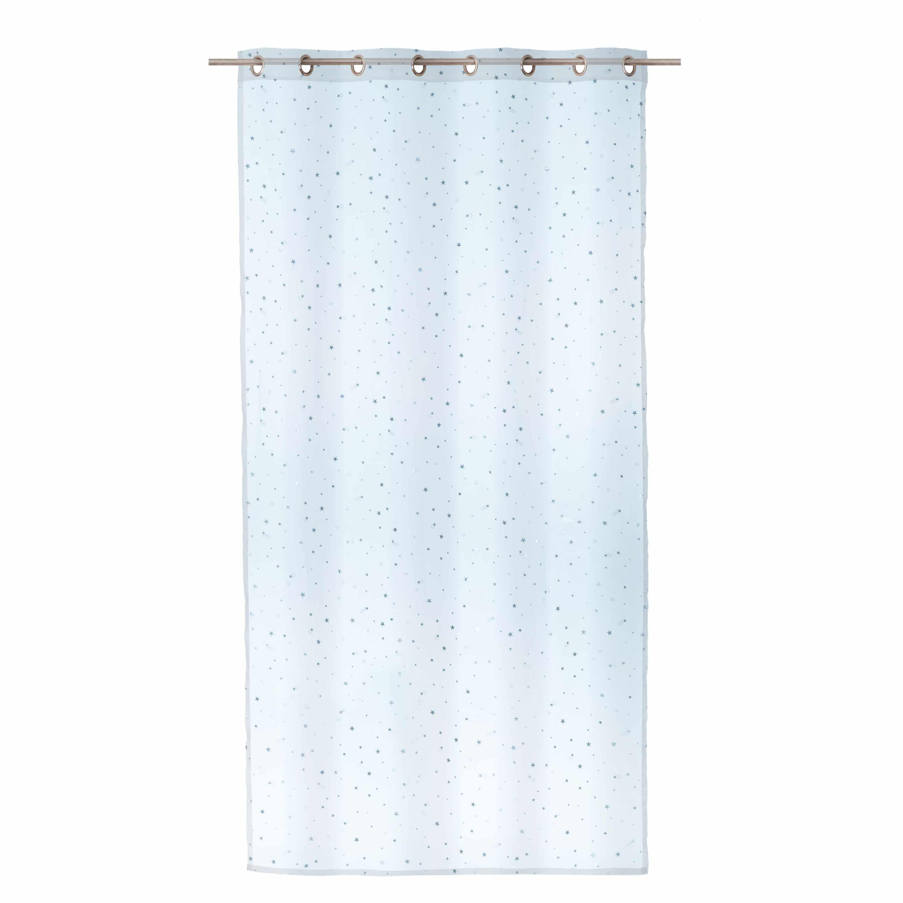 Blue Sheer Curtain With Stars Just Click
